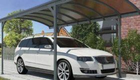 Арочный навес из поликарбоната для автомобиля