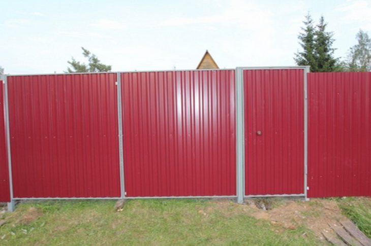 Забор из профнастила в Волгограде
