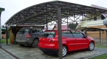 Навес для автомобиля из поликарбоната за 72 часа