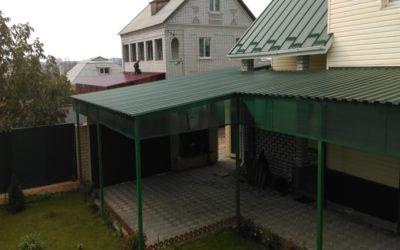 Навесы из профнастила: изготовление и установка в Волгограде