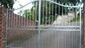 Распашные ворота (въезд)