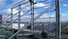 Рекламная конструкция на крыше здания